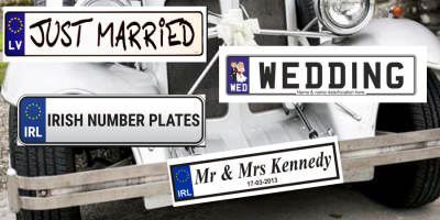 I do………..want a set of number plates for my big day!